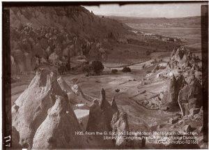 Mt. Erciyes from Orta Hiasr Ridge, Cappadocia, Turkey